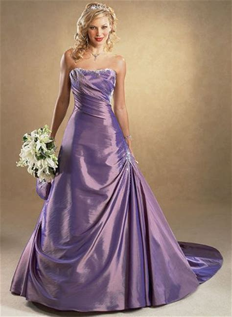 wedding dresses in color the wedding inspirations stylish purple wedding dress