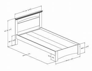 Lit Simple Dimension : plan lit simple recherche google diy t te de lit pinterest diy tete de lit tete de et ~ Teatrodelosmanantiales.com Idées de Décoration