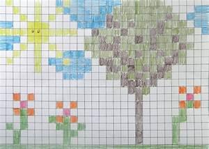 Craftsboom.com: Pixel Art Style Painting (graph paper art)