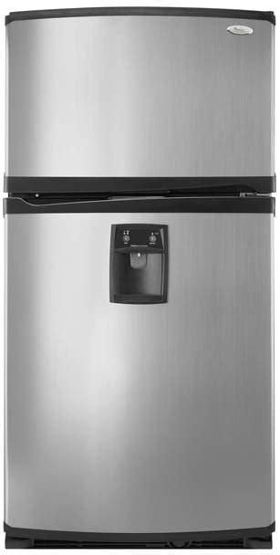 whirlpool grshwxps  cuft freestanding top freezer