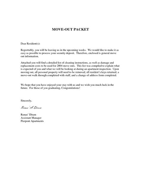 friendly letter  move  notice
