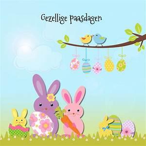 Vrolijk Pasen met paashaas - Paaskaarten - Kaartje2go