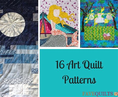 art quilt patterns favequiltscom