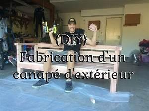 DIY Fabrication D39un Canap D39extrieur YouTube