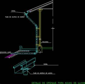 Drain Ceiling / Roof Drain Detail (Downspout) DWG Detail