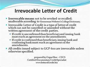 irrevocable letter europe fulfillment With funding against letter of credit