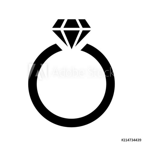 ring with diamond icon vector logo template gold diamond engagement wedding black design