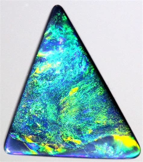 (2025) 107cts Bright Solid Black Opal  Triangle Shape