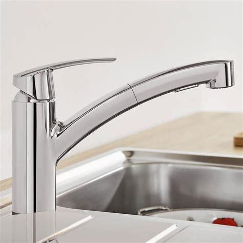 robinet grohe cuisine grohe start robinet de cuisine avec douchette extractible chrome 30307000 magasinsalledebains fr