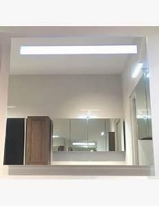 miroir lumineux 100 cm pour salle de bain avec bandeau led With miroir salle de bain avec bandeau lumineux