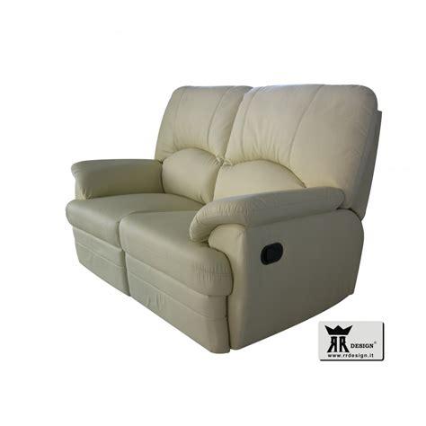 divano relax manuale con 2 recliner ecopelle della linea - Divano Recliner