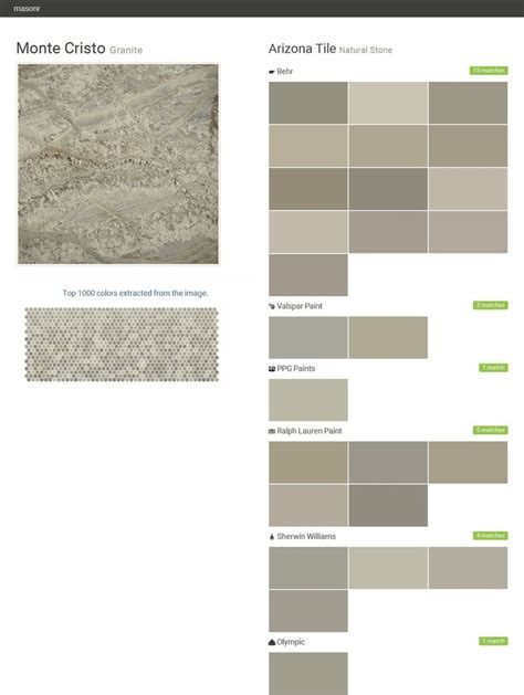 monte cristo granite natural arizona tile behr valspar paint ppg paints ralph