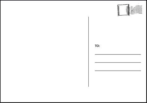 4 X 6 Postcard Template My Best Templates Great Postcard Template For Word Pictures Simple