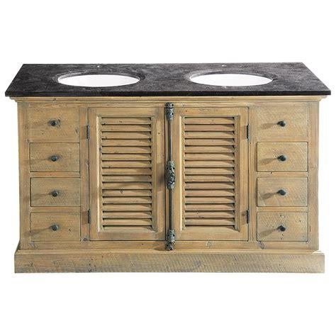 cocooning cuisine meuble salle de bain vasque en bois et bleue