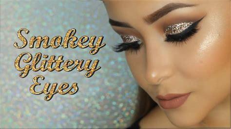 prom makeup smokey glittery eyes daisy marquez youtube