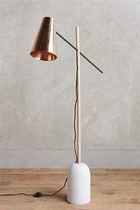 the warm glow of copper decor With copper effect floor lamp