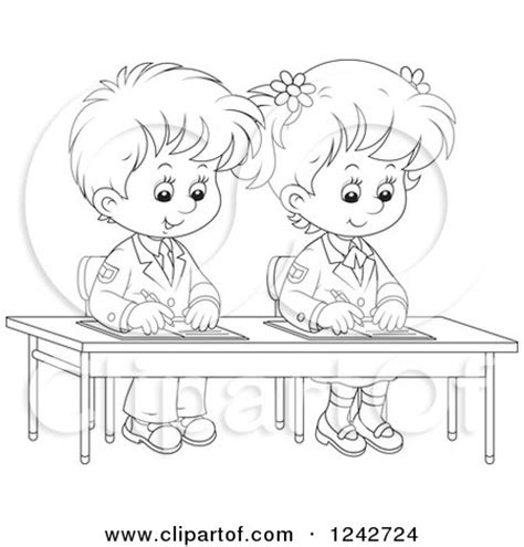 students writing clipart black and white royalty free rf essay clipart illustrations vector