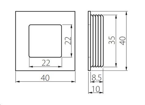 recessed flush sliding door handle pull circle square 1 57