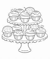 Coloring Pages Adult Cupcakes Printable Cupcake Popsugar Birthday sketch template