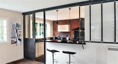 cuisine ouverte refermable cuisine ouverte une verrière en mode coulissant cuisine