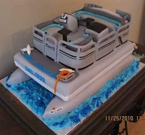 Pontoon Birthday Cake - CakeCentral com