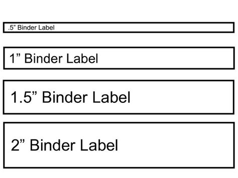 Half Inch Binder Spine Template by 1000 Ideas About Binder Spine Labels On