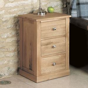 Mobel Solid Oak 3 Drawer Lamp Table Robson Furniture