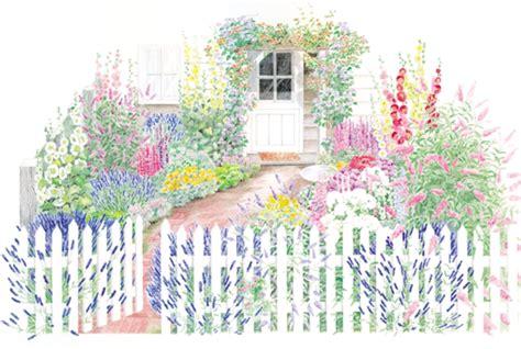 free garden plans cottage garden plans