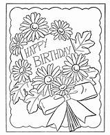 Coloring Birthday Pages Card Popular sketch template