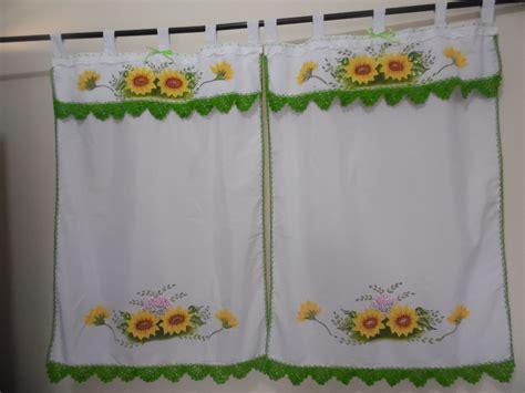 cortinas pintadas cortinas pintadas a mano para cocina buscar con google