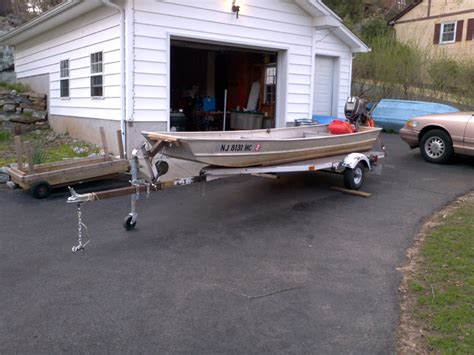 Skiff Trailer Setup by Here S My Boat Sears 14 Jon Tinboats Net