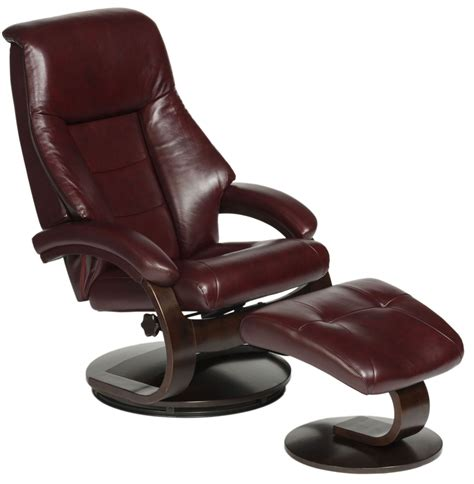 leather chair with ottoman oslo merlot burgundy top grain leather swivel recliner
