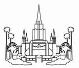 Oakland Temples sketch template