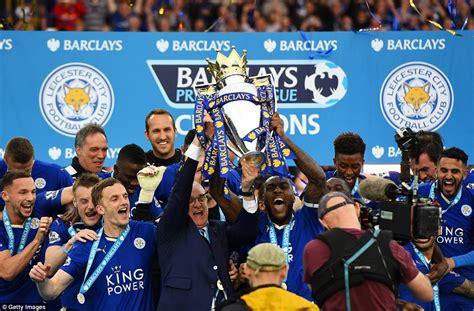 Leicester City celebrate the Premier League title: Players ...
