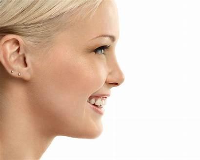 Nose Profile Woman Rhinoplasty Surgery Smiling Scars