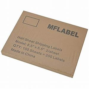 Mflabel 200 half sheet shipping labels 5 1 2quot x 8 1 2 for Half page shipping labels