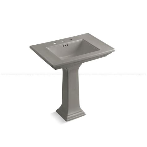 kohler memoirs ceramic pedestal bathroom sink with 8 in