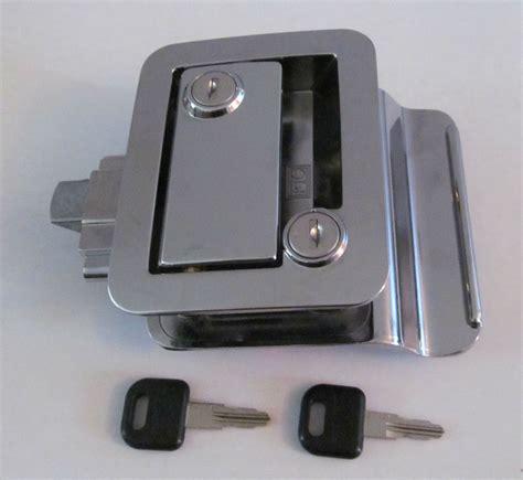 trailer door locks chrome rv entry door lock handle knob deadbolt key cer