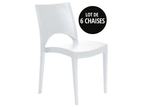 lot de chaise de jardin lot de 6 chaises de jardin empilables oporto coloris blanc