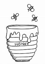 Honey Pooh Winnie Pot Coloring Clipart Bees Mel Pote Abelha Bee Drawing Colorir Clip Winni Malvorlagen Desenho Container Tudodesenhos Desenhos sketch template