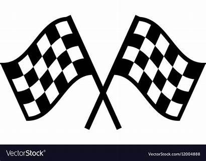 Flag Racing Vector Icon Flat Vectors Kart