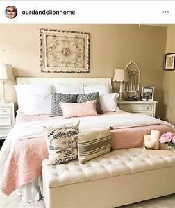 blush, farmhouse, bedroom