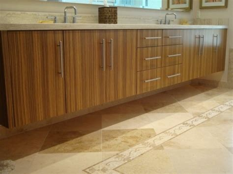 zebra wood cabinets kitchen master bath vanity features another exle of custom 1706