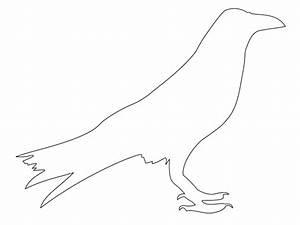 Simple Raven Outline
