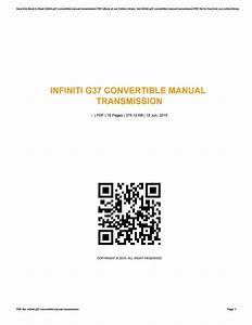 Infiniti G37 Convertible Manual Transmission By Szerz497