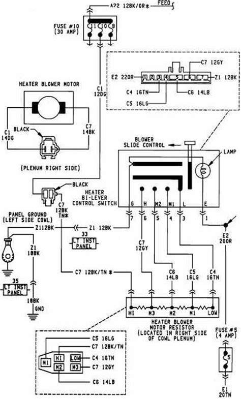 Blower Motor Schematic Wiring Dodge Caravan