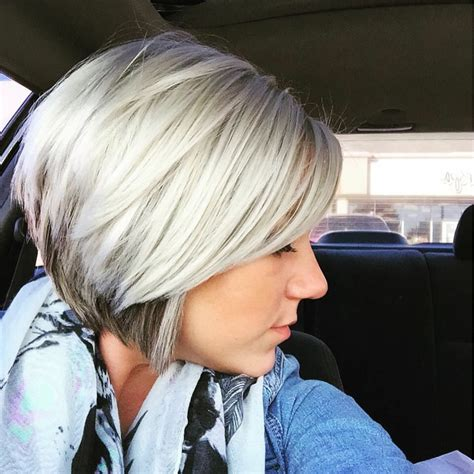 On Top And Underneath Hairstyles by Platinum With A Hint Of Highlights Underneath