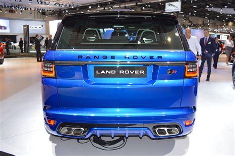 2018 Range Rover Sport Svr Rear At 2017 Dubai Motor Show