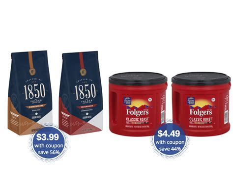 Sale on sexual wellness supplements. Folgers 1850 Coffee Just $3.49, Folgers Coffee Tubs Just $4.49 at Safeway - Super Safeway