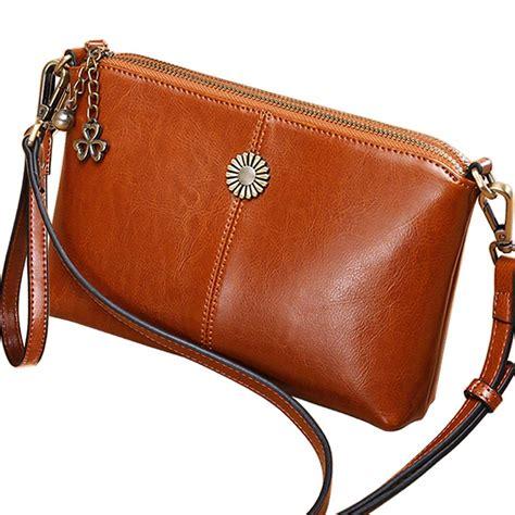 womens leather small crossbody bag wristlet clutch crossbody purse top handle handbag
